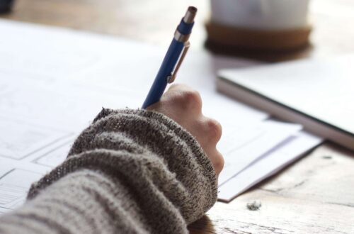 Pen writing to paper